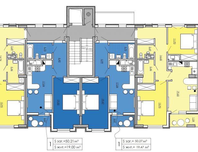 План 2-7 поверху