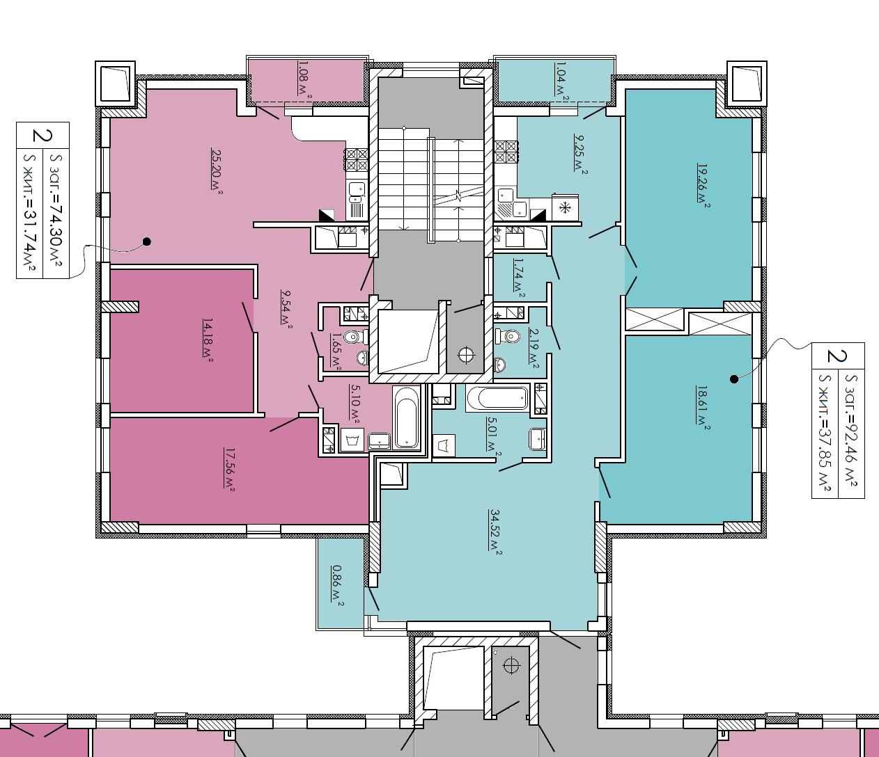 План 2-3 поверху